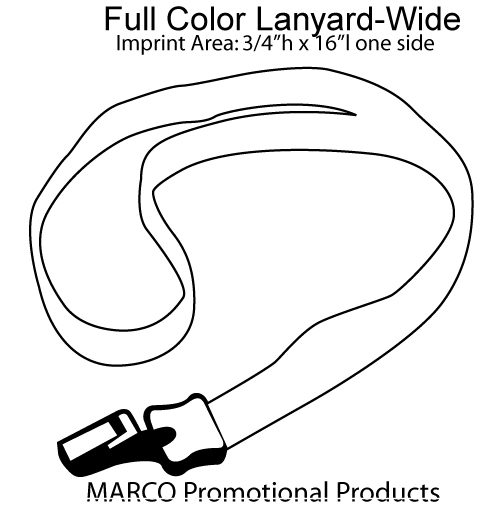 4 Full Color Lanyard Ly 102 W